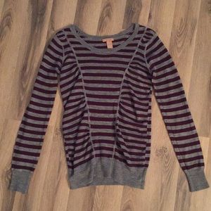 Forever 21 Purple & Gray Sweater